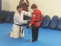 Alexander has a black belt!