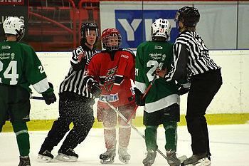 English: Image taken during a youth hockey tou...