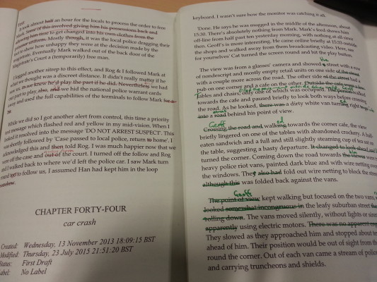 Green Ink vs Red Ink when editing