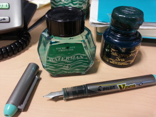 Green ink for fountain pens (photo credit: James Kemp)