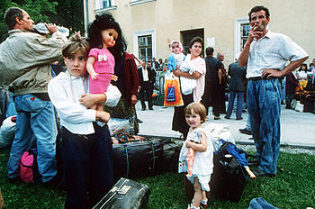 refugee crisis from the Yugoslav wars in the 1990s