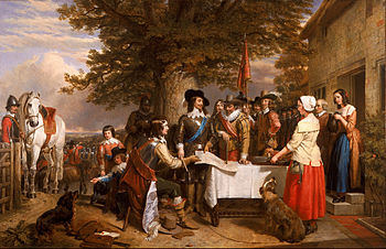 English: Oil on canvas painting of Charles I h...