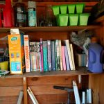 Garden Bookshelf – Bookshelves Abound = #Shelfie 03