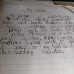 Early Writing (aged 7) – My Kitten
