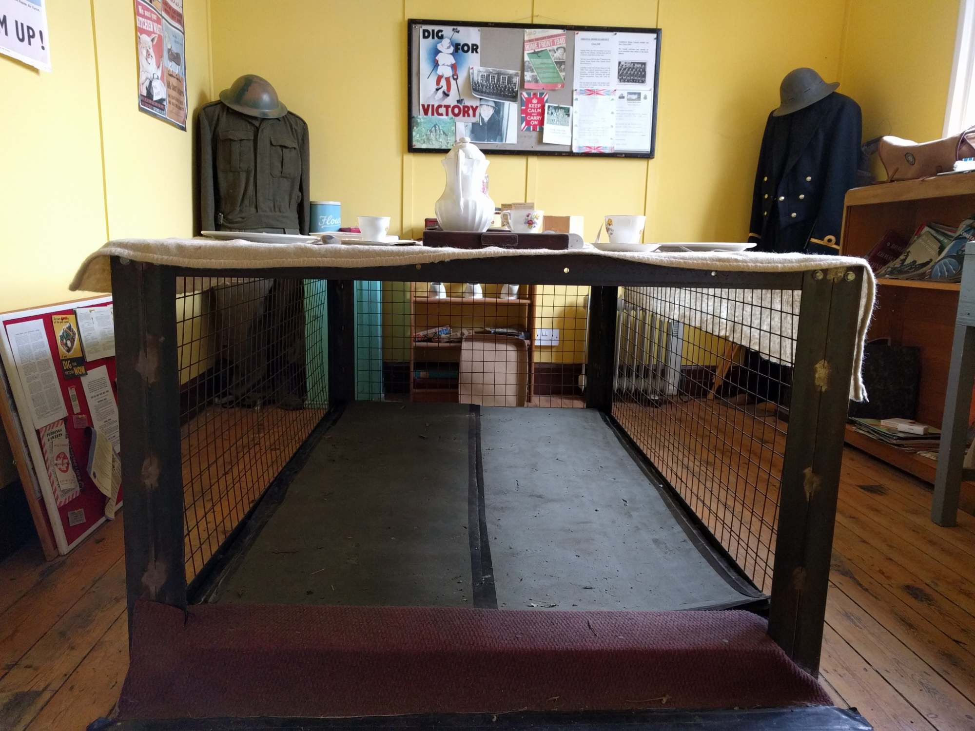 Morrison Shelter at Henley Fort WW2 Experience