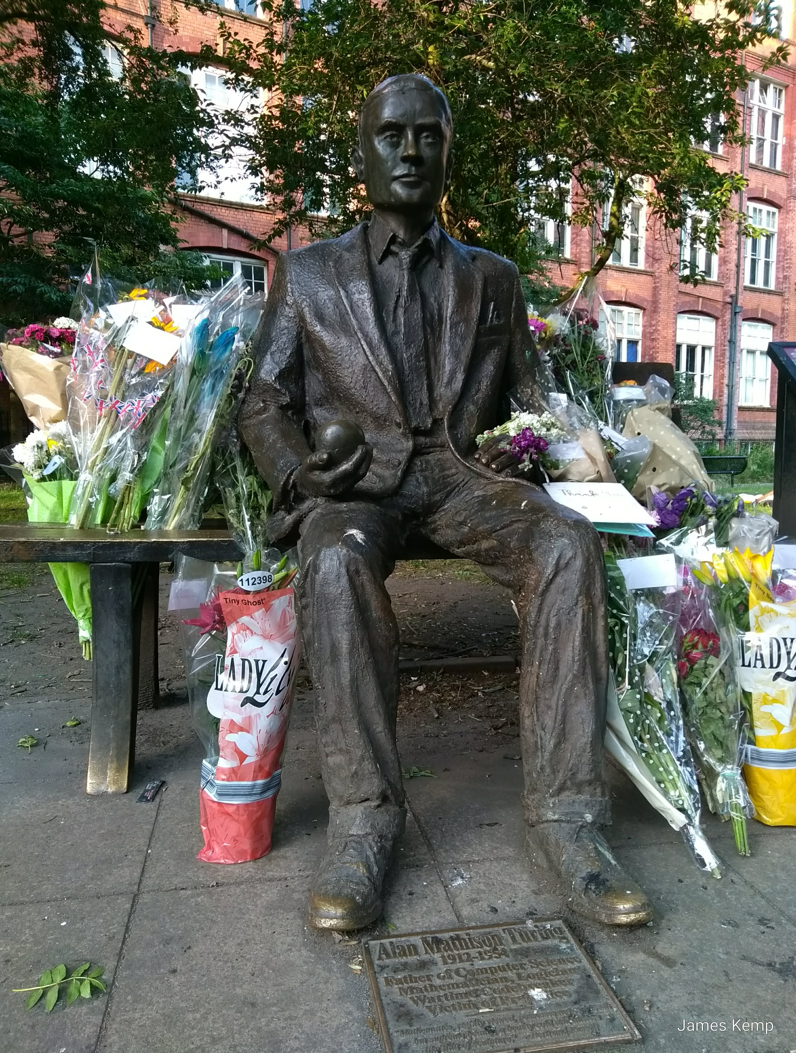 The Alan Turing Memorial in Sackville Park, Manchester (photo: James Kemp)