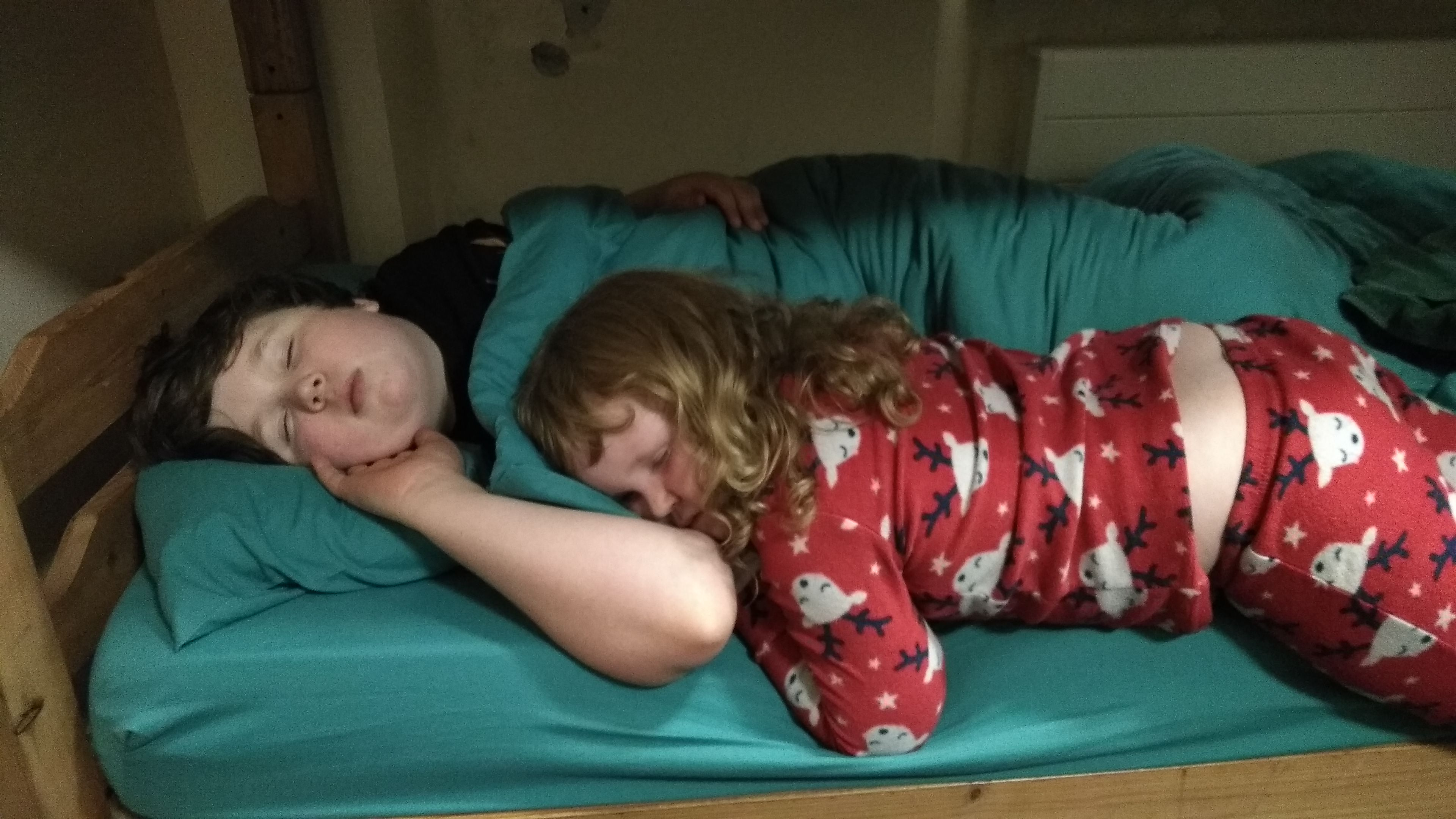 The best result from a real family holiday, tired children! (photo: James Kemp)