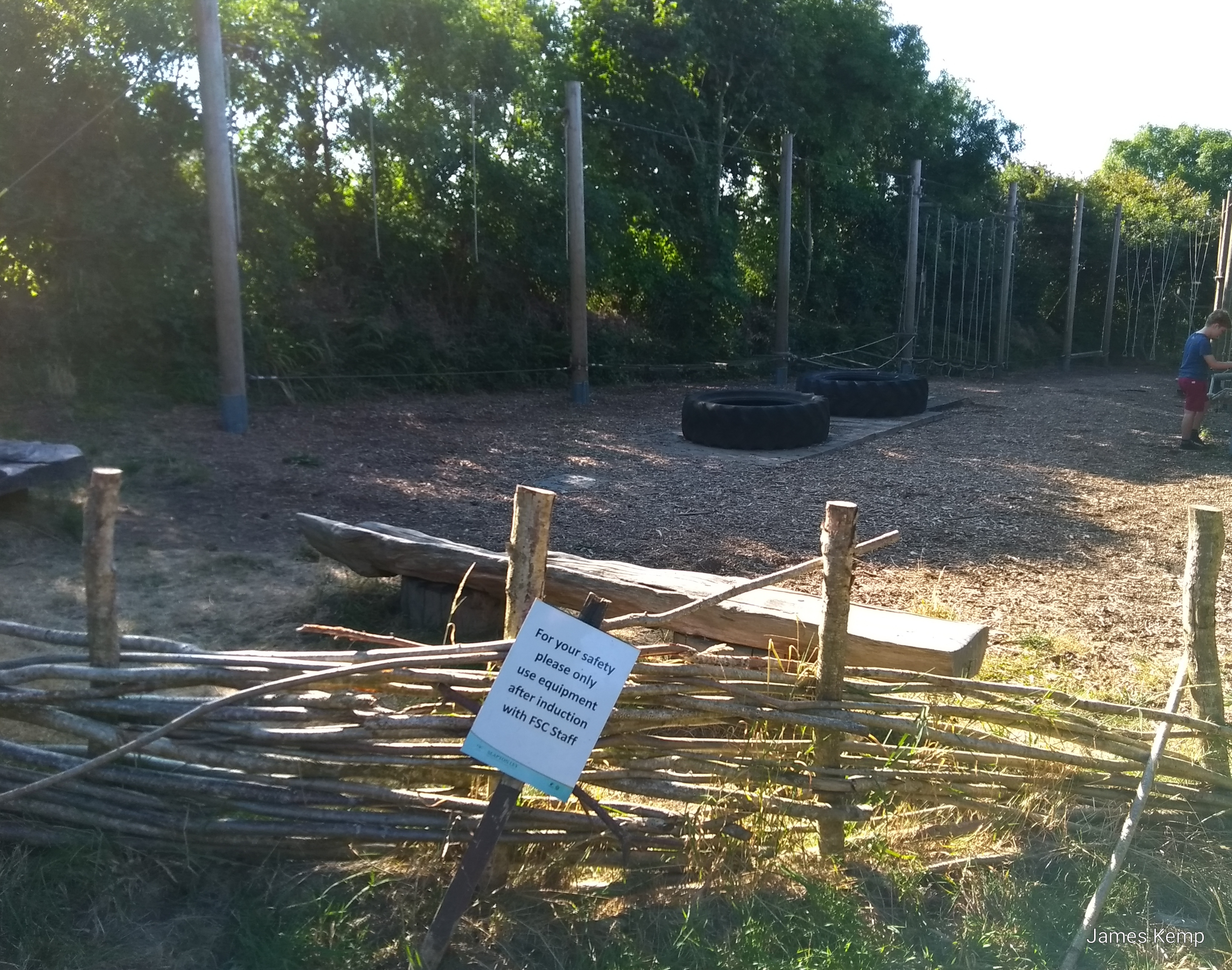 Low ropes at the Real Family Holidays centre in Slapton. (Photo: James Kemp)