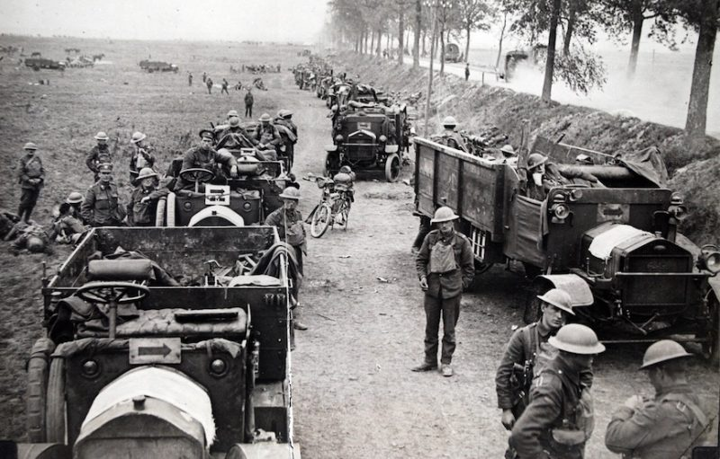 The last Hundred Days was fluid, evidenced by the use of trucks, cavalry and tanks.
